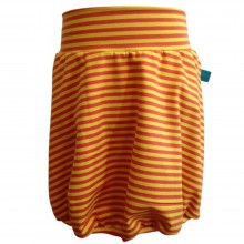 Orange/yellow ringed Bubble Skirt made of Organic Cotton Jersey