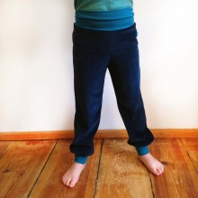 Kids Bloomers Organic Cotton Plush Navy/Petrol
