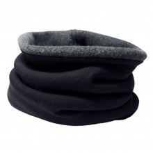 Winterproof Loop Scarf plain Black/Anthracite