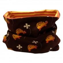 Loop scarf Turtles Brown-Yellow-Orange
