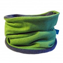 Winterproof Loop Scarf plain Lime melange/Blue