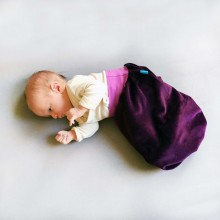 Bingabonga Swaddle Bag of Organic Plush Aubergine/Lilac