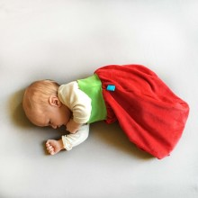 Bingabonga Swaddle Bag of Organic Plush Red/Green