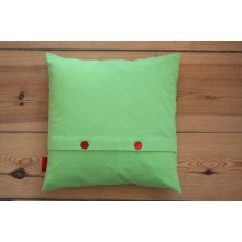 Green Cushion Cover of organic cotton canvas with or without pillow 40x40 cm