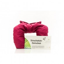 Cherry stone heatable neck pillow from Weltecke