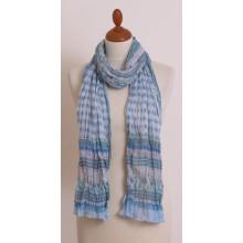 Scarf in Light Blue made of Organic Cotton by billbillundbill