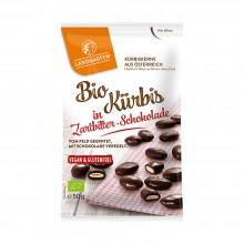 Organic Pumpkin Seed Snack in Dark Chocolate by Landgarten
