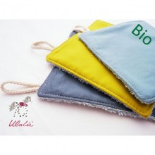 Baby Wash Cloths 3-part Set of Organic Cotton