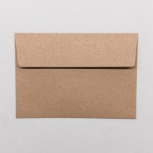 Brown Envelope C6 made of recycled paper, without window in a set of 5