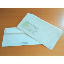 DRP Envelopes 110 x 220 mm with window and seal - 20 pieces