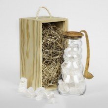 Pitcher Cadus for Salt Brine with Olive Wood Stopper and Spoon