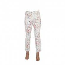 7/8 Trousers with Flower Print, Organic Cotton