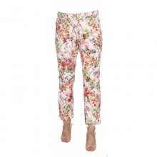 Ankle-length Trouser with Flower Print, Organic Cotton