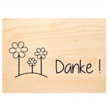 DANKE (Thanks) wooden postcard – Say it with Nature – PEFC® beechwood