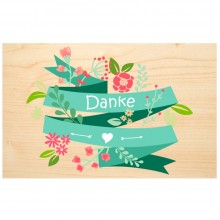 DANKE (Thank you) wooden postcard – Say it with Nature – PEFC® beechwood