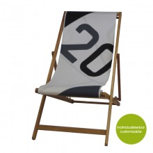 Deckchair »Transatlantic 20« made of recycled sails or new canvas – customizable