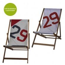 Red Deckchair »Transatlantic 29« made of sailcloth – customizable