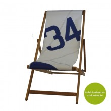 Deckchair »Transatlantic 34« made of recycled sails or new canvas – customizable