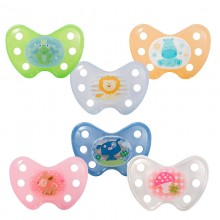 Dentistar – Pacifier without ring, size 1 for babies 0-6 M, different motifs
