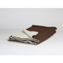 Wolldecke Dark Brown/White