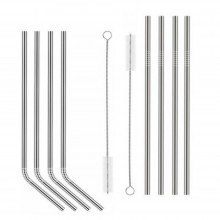 Dora's Stainless Steel Drinking Straws incl. Cleaning Brush