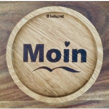 MOIN – Coaster made of solid Oak Wood with laser engraving