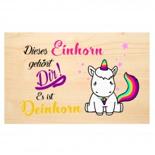 Unicorn – wooden postcard made of PEFC® beechwood