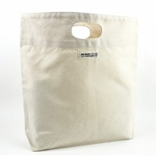 Sturdy Shopping Bag made of organic cotton with short handles