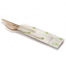 Eco Disposable naturesse® Cutlery Set Beige