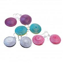 Earrings Ambikha Tie Dye from handmade paper