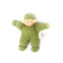 "Eco Grasping Toy Doll ""Erbsenkind"" of Organic Cotton and Wool"