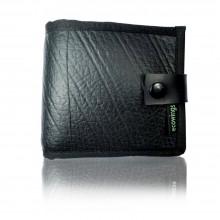 Black Buck 2 vegan leather mens' wallet, Ecowings