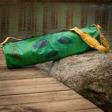 Upcycling Yoga Mat Bag – Green Fish