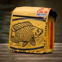 Fair Trade Shoulder Bag - Yellow Fish