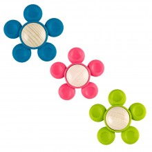 FiO+ Wooden Grasping Toy and Teething Aid Flower in various colours
