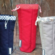 Bottle Bag made of Organic Cotton in various colours