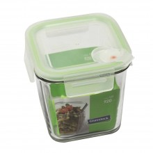 Glasslock Food Container Air Type with lid, square 920 ml
