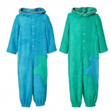 Bamboo Terrycloth Jumpsuit Kids Sea green or Caribbean blue