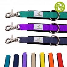 Dog Leash Lead of recycled Denim & colourful Webbing & Scissor Carabiner, 120 cm
