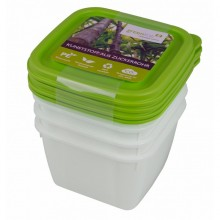 Greenline deep-freeze food container 0.5 l in 4-part set