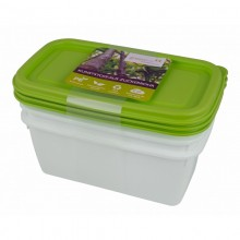 Greenline deep-freeze food container 0.75 l in 3-part set