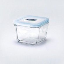 Airtight, mircowaveable Glasslock Baby Food Container, square, for microwave & freezer