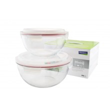 Mixing Bowl with Lid - 2part Set - maxi - by GlassLock