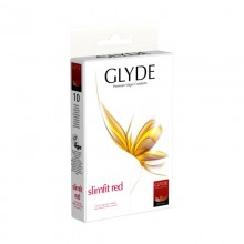 Glyde Slimfit Red Vegan Condoms made from Natural Rubber Latex
