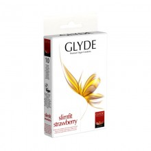 Glyde Slimfit Strawberry Vegan Condoms