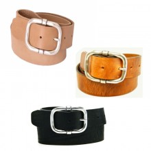 Leather Belt in vegetable tanned leather in various length and colours