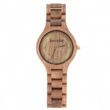 Unisex Wristwatch made of Walnut Wood