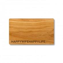 HAPPYWIFEHAPPYLIFE Cutting Board made of Cherry Wood