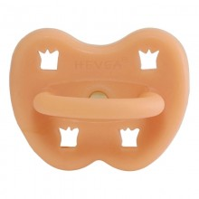 Hevea Orthodontic Pacifier Cantaloupe Natural Rubber