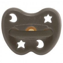 Hevea orthodontic Pacifier, Shiitake Grey Natural Rubber